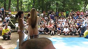 Wrestling, Amateur, American, Beach, Fight, Nudist