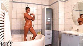 Shower, Bath, Bathing, Bathroom, Brunette, High Definition