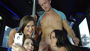 Jane Marie, 4some, Best Friend, Blowjob, Brunette, Bus
