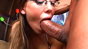 Glasses, Amateur, Blowjob, Brunette, Cum, Glasses
