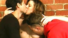 Lisa, 3some, Banging, Blowbang, Blowjob, Brunette