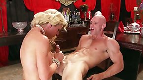 Cherie Deville, Ball Licking, Big Nipples, Big Tits, Blonde, Blowbang