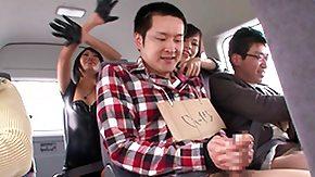 Bus, 18 19 Teens, Asian, Barely Legal, Brunette, Bus