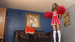 Cheerleaders, Blowjob, Brunette, Cheerleader, Ebony, Interracial
