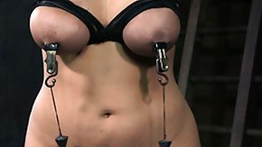 Nipple Clamp HD porn tube Busty nipple clamped fetish s tit spanked