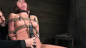 Nipple Clamps, BDSM, Bound, Brunette, Fetish, High Definition
