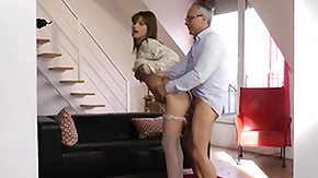 Stocking, Blowjob, Brunette, European, Hardcore, High Definition