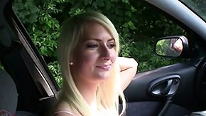 Female Ejaculation, Amateur, Bitch, Blonde, Blowjob, Car