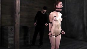 HD Tied Anal Sex Tube Anal batted eyes at tied up slave whipped hard