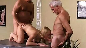 Grandpa, 18 19 Teens, 3some, Banging, Barely Legal, Blonde