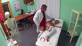 HD Doctor Sex Tube Hot Brunette Patient returns craving the doctors big cock