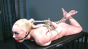 HD Master tube Blonde s&d slave gets bound up and has her holes filled by Masters fingers secondary brain and hook