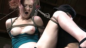 Hogtied, BDSM, Bound, Brunette, Fetish, Fingering