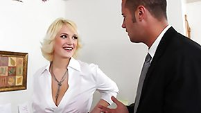 Busty Blondi, Big Tits, Blonde, Blowjob, Boobs, Desk