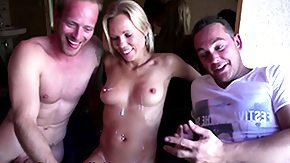 Cumshots, 3some, Blonde, Blowjob, Cumshot, Dutch