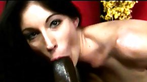 Cigar HD porn tube Trim brunette hair milf smokes a cigar and works her lips on a black cock
