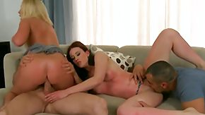 Bad Girl, 4some, Blowbang, Blowjob, European, Facial