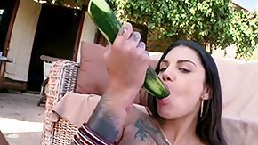 Cucumber, Anal, Blowjob, Brunette, Outdoor, Pissing