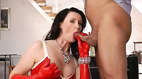 Latex, Blowjob, British, British Fetish, British Mature, Brunette