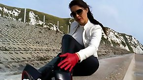 Glove, Boots, Brunette, Feet, Fetish, Gloves