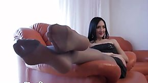Nylon Feet, Brunette, Feet, Fetish, High Definition, Leggings