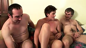 Old Lady, 3some, Banging, Blowbang, Blowjob, Gangbang