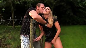 Outdoor, Babe, Blonde, Blowjob, Facial, Handjob