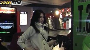 Adele Stephens HD porn tube Adele Stephens was having cool fun at arcade while waiting for her boyfriend titillating angel with very long shiny black hair was sexily ridin arcade