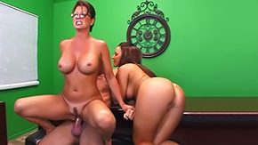Mature Glasses, Aunt, Bend Over, Big Ass, Big Cock, Big Tits