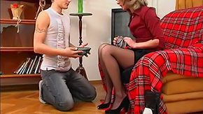 Mom Young Guy, Anorexic, Aunt, Babe, Blonde, Boots