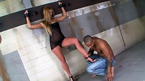 Ray Black High Definition sex Movies Charming Linda Ray is giving black man lusty foot job despite being manacled to wall Liz Cristal