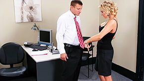 Lady, Bend Over, Blonde, Cute, Desk, Doggystyle