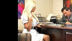 Free Angelina Ash HD porn The Option blonde flirty secretary grey eyes undress clothed desk spreading legs lick from behind lovely anal hole