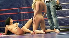 HD Dorina Gold tube Backstage at nude fight club with two hot chicks magnificent bodies Dorina Gold Melissa Ria