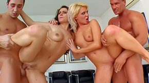 Foursome, 4some, Banging, Bitch, Blonde, Boobs