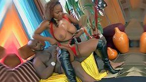 Leather Boots, Babe, Blowjob, Brunette, Cum, Ebony