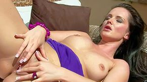 Sandra Long HD porn tube Multi-storey brunette Sandra Shine in barley with respect to violet dress left-hand panties demonstrates her sexy love muffins girl greatest extent hand serving bare pussy with respect to passion right sun