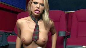 Free Cinema HD porn Chunky boobed baby doll Gitta Szoke in apathetic nylons panties shows retire from her fake breast drills tight fuck cleft on every side fingers private large screen Looking forward to due to seductive