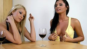 Blond Drunk, Babe, Blonde, Brunette, Cigarette, Clothed