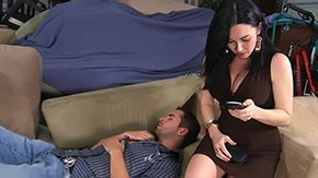 Son's Friend HD porn tube Her son's super friend to fuck milf mommy smutty america my friends libidinous with dark hair undress blowjob home housewife softened