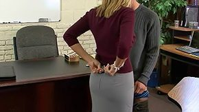 Becca Blossoms, Bend Over, Blonde, Desk, Doggystyle, Fucking