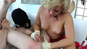 Jerking, Ball Kicking, Ballbusting, BDSM, Blonde, Boots