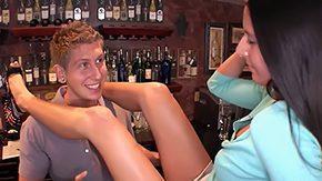 Nikki Daniels, Ball Licking, Bar, Big Cock, Big Natural Tits, Big Tits