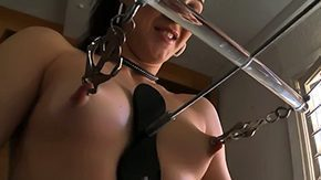 HD Nipple Clamp Sex Tube Babe punished vulgar cruel due to her bad behavior That babe gets clothespins on her vulgar sensitive mammary glands before getting metallic clamps on 'em too Witness