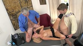 HD Brittany Angel Sex Tube Aged boss invited his young son to visit his office taste something He called his secretary Brittany Angel offered her fine 2 males 1 female sex with his
