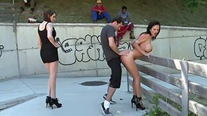 Caning, Bend Over, Blowjob, Brunette, Caning, Doggystyle