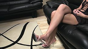 Mature Footjob, Amateur, Aunt, Blonde, Fetish, Footjob
