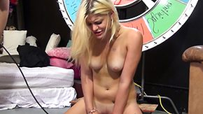 Sybian, Blonde, Boobs, Flat Chested, Machine, Masturbation