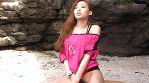 Beach, Asian, Babe, Beach, Beach Sex, Beaver