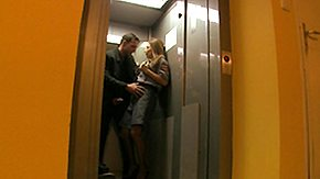 HD Elevator Sex Tube Roberta Gemma Fixes Elevators and Sucks Cock Multi Superior